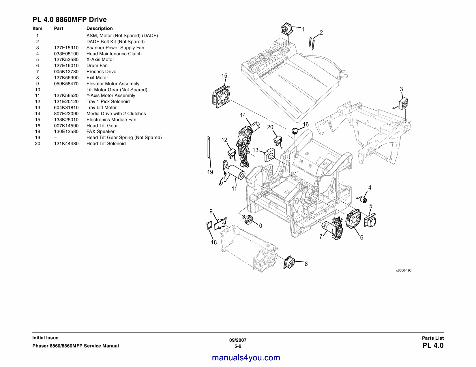 Xerox Phaser 8860 8860-MFP Parts List and Service Manual